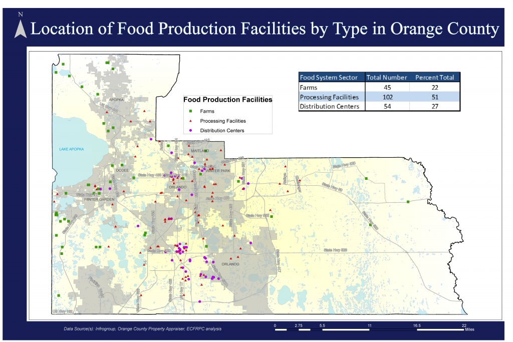 Map 6- Location of food production facilities